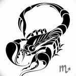 фото эскиз тату скорпион от 24.04.2018 №024 - sketch of a scorpion tattoo - tatufoto.com