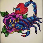 фото эскиз тату скорпион от 24.04.2018 №038 - sketch of a scorpion tattoo - tatufoto.com