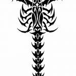 фото эскиз тату скорпион от 24.04.2018 №041 - sketch of a scorpion tattoo - tatufoto.com