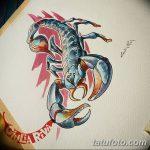 фото эскиз тату скорпион от 24.04.2018 №043 - sketch of a scorpion tattoo - tatufoto.com