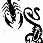 фото эскиз тату скорпион от 24.04.2018 №044 - sketch of a scorpion tattoo - tatufoto.com