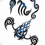 фото эскиз тату скорпион от 24.04.2018 №052 - sketch of a scorpion tattoo - tatufoto.com