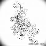 фото эскиз тату скорпион от 24.04.2018 №054 - sketch of a scorpion tattoo - tatufoto.com