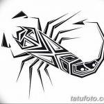 фото эскиз тату скорпион от 24.04.2018 №055 - sketch of a scorpion tattoo - tatufoto.com