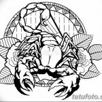 фото эскиз тату скорпион от 24.04.2018 №066 - sketch of a scorpion tattoo - tatufoto.com