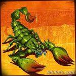 фото эскиз тату скорпион от 24.04.2018 №078 - sketch of a scorpion tattoo - tatufoto.com