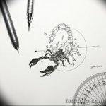 фото эскиз тату скорпион от 24.04.2018 №079 - sketch of a scorpion tattoo - tatufoto.com