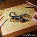 фото эскиз тату скорпион от 24.04.2018 №089 - sketch of a scorpion tattoo - tatufoto.com