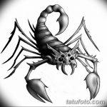 фото эскиз тату скорпион от 24.04.2018 №107 - sketch of a scorpion tattoo - tatufoto.com