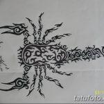 фото эскиз тату скорпион от 24.04.2018 №113 - sketch of a scorpion tattoo - tatufoto.com