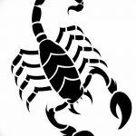 фото эскиз тату скорпион от 24.04.2018 №121 - sketch of a scorpion tattoo - tatufoto.com