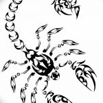 фото эскиз тату скорпион от 24.04.2018 №138 - sketch of a scorpion tattoo - tatufoto.com