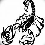 фото эскиз тату скорпион от 24.04.2018 №145 - sketch of a scorpion tattoo - tatufoto.com