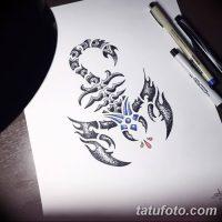 Эскизы тату скорпион