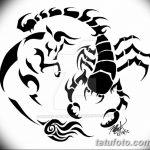 фото эскиз тату скорпион от 24.04.2018 №153 - sketch of a scorpion tattoo - tatufoto.com