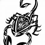 фото эскиз тату скорпион от 24.04.2018 №161 - sketch of a scorpion tattoo - tatufoto.com