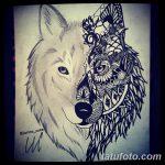 фото Мехенди волка от 05.05.2018 №006 - Mehendi the Wolf - tatufoto.com