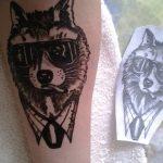 фото Мехенди волка от 05.05.2018 №014 - Mehendi the Wolf - tatufoto.com