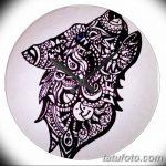 фото Мехенди волка от 05.05.2018 №018 - Mehendi the Wolf - tatufoto.com