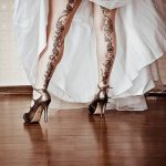 фото Мехенди на икре ноги от 04.05.2018 №020 - Mehendi on calf - tatufoto.com