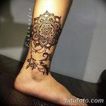 фото Мехенди на икре ноги от 04.05.2018 №023 - Mehendi on calf - tatufoto.com