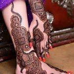 фото Мехенди на икре ноги от 04.05.2018 №058 - Mehendi on calf - tatufoto.com