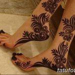 фото Мехенди на икре ноги от 04.05.2018 №060 - Mehendi on calf - tatufoto.com
