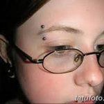 фото пирсинг брови от 06.06.2018 №087 - eyebrow piercing - tatufoto.com