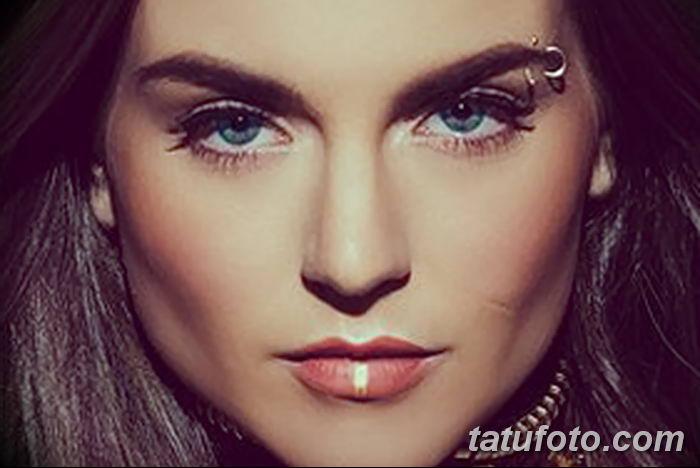 фото пирсинг брови от 06.06.2018 №117 - eyebrow piercing - tatufoto.com
