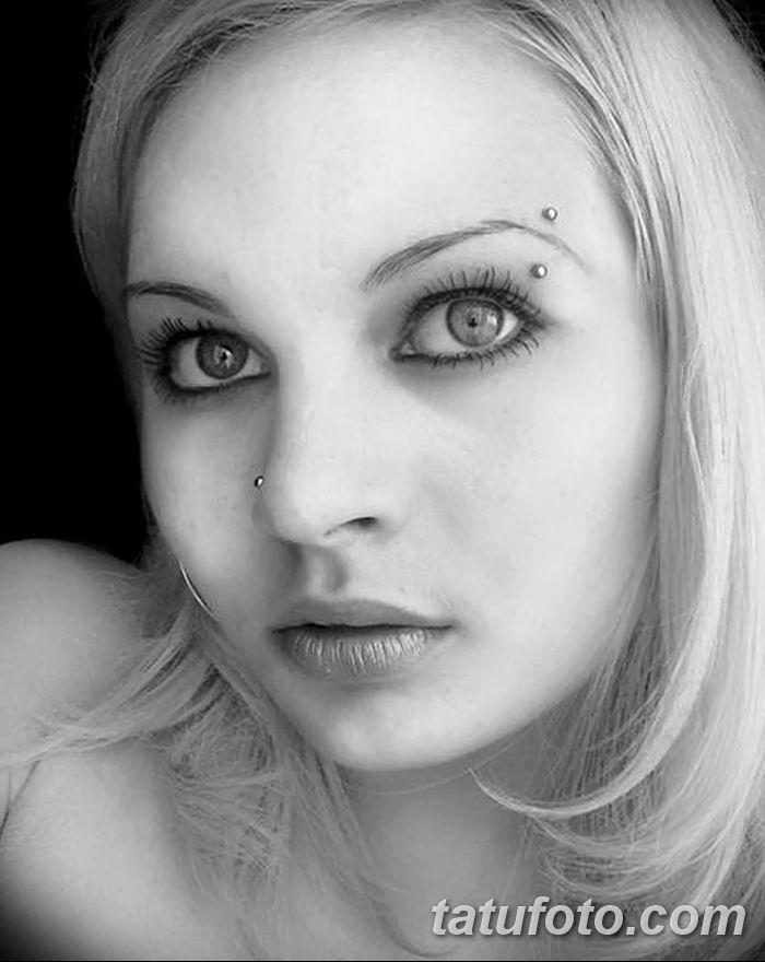 фото пирсинг брови от 06.06.2018 №143 - eyebrow piercing - tatufoto.com