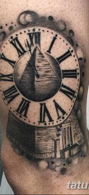 фото тату часы и пирамида от 08.05.2018 №005 – tattoo clock and pyramid – tatufoto.com