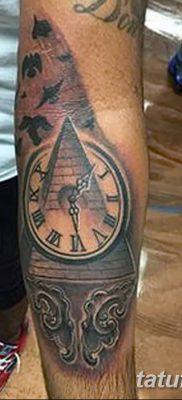 фото тату часы и пирамида от 08.05.2018 №008 – tattoo clock and pyramid – tatufoto.com