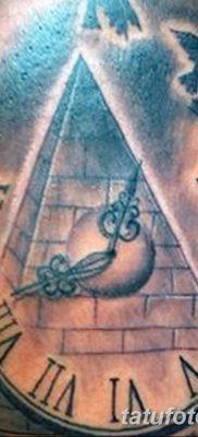 фото тату часы и пирамида от 08.05.2018 №010 – tattoo clock and pyramid – tatufoto.com