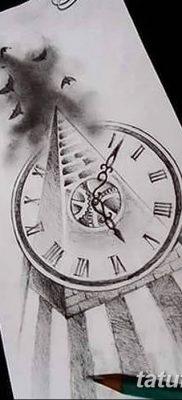 фото тату часы и пирамида от 08.05.2018 №018 – tattoo clock and pyramid – tatufoto.com