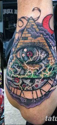 фото тату часы и пирамида от 08.05.2018 №029 – tattoo clock and pyramid – tatufoto.com
