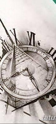 фото тату часы и пирамида от 08.05.2018 №034 – tattoo clock and pyramid – tatufoto.com