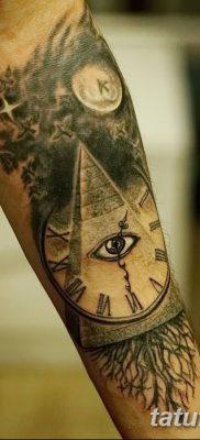 фото тату часы и пирамида от 08.05.2018 №038 – tattoo clock and pyramid – tatufoto.com