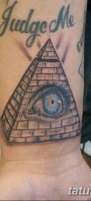 фото тату часы и пирамида от 08.05.2018 №039 – tattoo clock and pyramid – tatufoto.com
