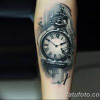 Фото тату часы