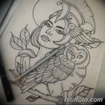 фото эскиз тату Афродита богиня от 01.05.2018 №005 - sketch Aphrodite - tatufoto.com