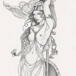 фото эскиз тату Афродита богиня от 01.05.2018 №006 - sketch Aphrodite - tatufoto.com