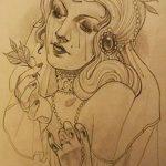 фото эскиз тату Афродита богиня от 01.05.2018 №007 - sketch Aphrodite - tatufoto.com