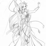 фото эскиз тату Афродита богиня от 01.05.2018 №008 - sketch Aphrodite - tatufoto.com