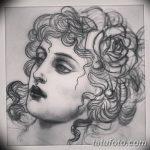 фото эскиз тату Афродита богиня от 01.05.2018 №010 - sketch Aphrodite - tatufoto.com