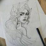 фото эскиз тату Афродита богиня от 01.05.2018 №016 - sketch Aphrodite - tatufoto.com