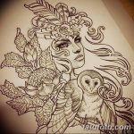 фото эскиз тату Афродита богиня от 01.05.2018 №019 - sketch Aphrodite - tatufoto.com