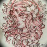 фото эскиз тату Афродита богиня от 01.05.2018 №020 - sketch Aphrodite - tatufoto.com