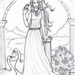 фото эскиз тату Афродита богиня от 01.05.2018 №023 - sketch Aphrodite - tatufoto.com