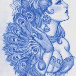 фото эскиз тату Афродита богиня от 01.05.2018 №024 - sketch Aphrodite - tatufoto.com