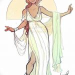 фото эскиз тату Афродита богиня от 01.05.2018 №026 - sketch Aphrodite - tatufoto.com